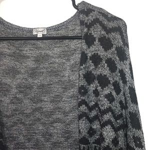 Kismet Cardigan Grey and Black Size Small